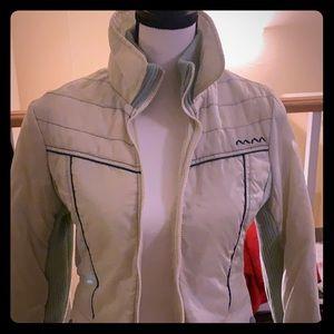 Cream/Baby Blue Volcom Lined Jacket